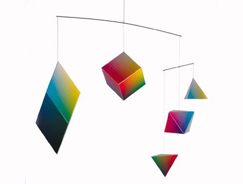 Das Farbenmobile, ein Papierbausatz mit besonderen Farben und Formen