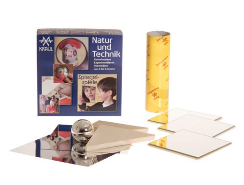 Spiegelspiele, ein Kinder Experimentier-Kasten zum Thema Optik