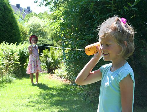 Schnurtelefon, ein Kinder Experimentier-Set zur Akustik