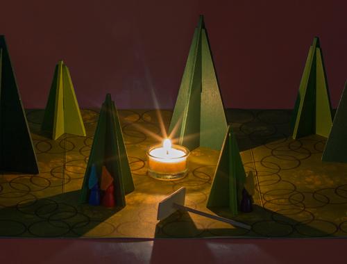 Das Waldschattenspiel von Spielzeug Kraul in der einfachen Variante