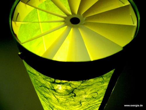 Der Lichtrotor strahlt Gemütlichkeit aus und nutzt dabei Physik