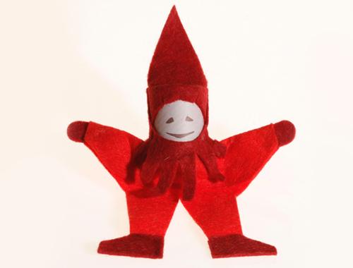 Der rote Purzelzwerg von Spielzeug Kraul purzelt