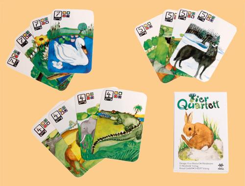 Tierquartett ist liebevoll schön gestaltet für Kinder ab 5 Jahren